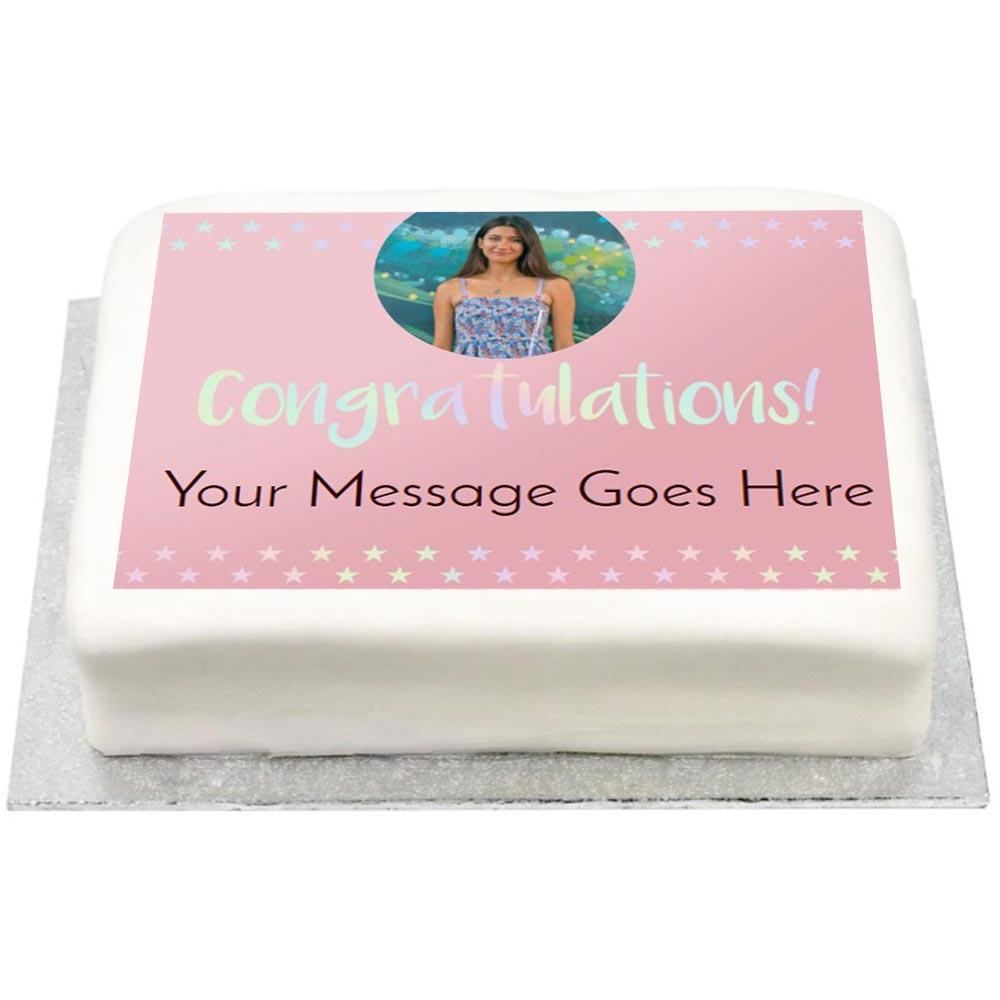 Personalised Photo Cake - Iridescent