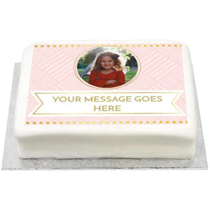 Personalised Photo Cake - Pink Pastel Perfection Kids