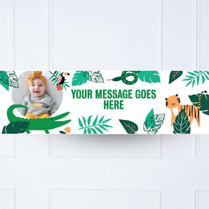Go Wild 1st Birthday Personalised Party Banner