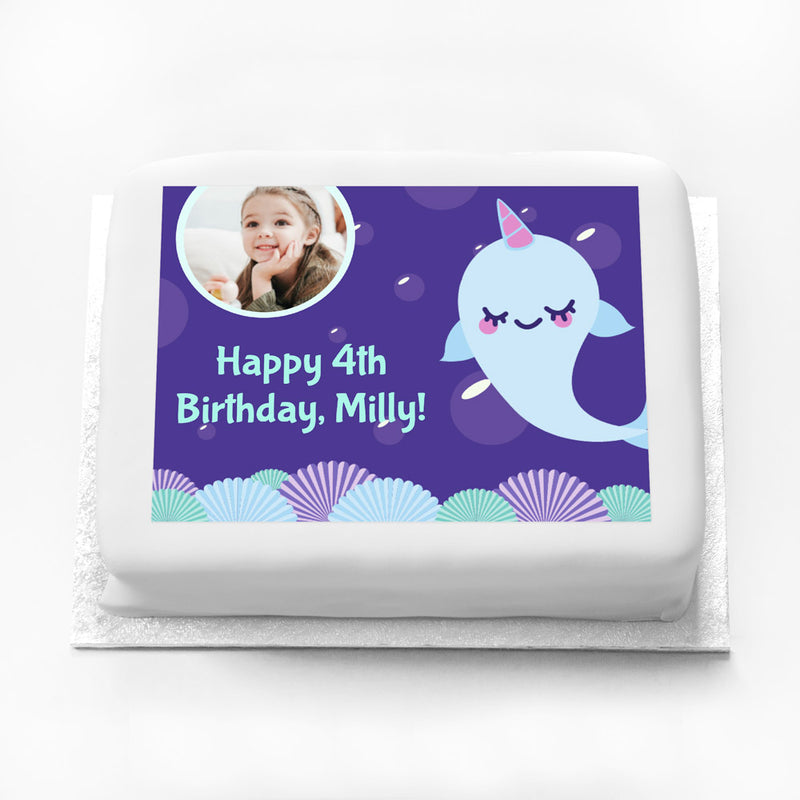 Personalised Photo Cake - Narwhal