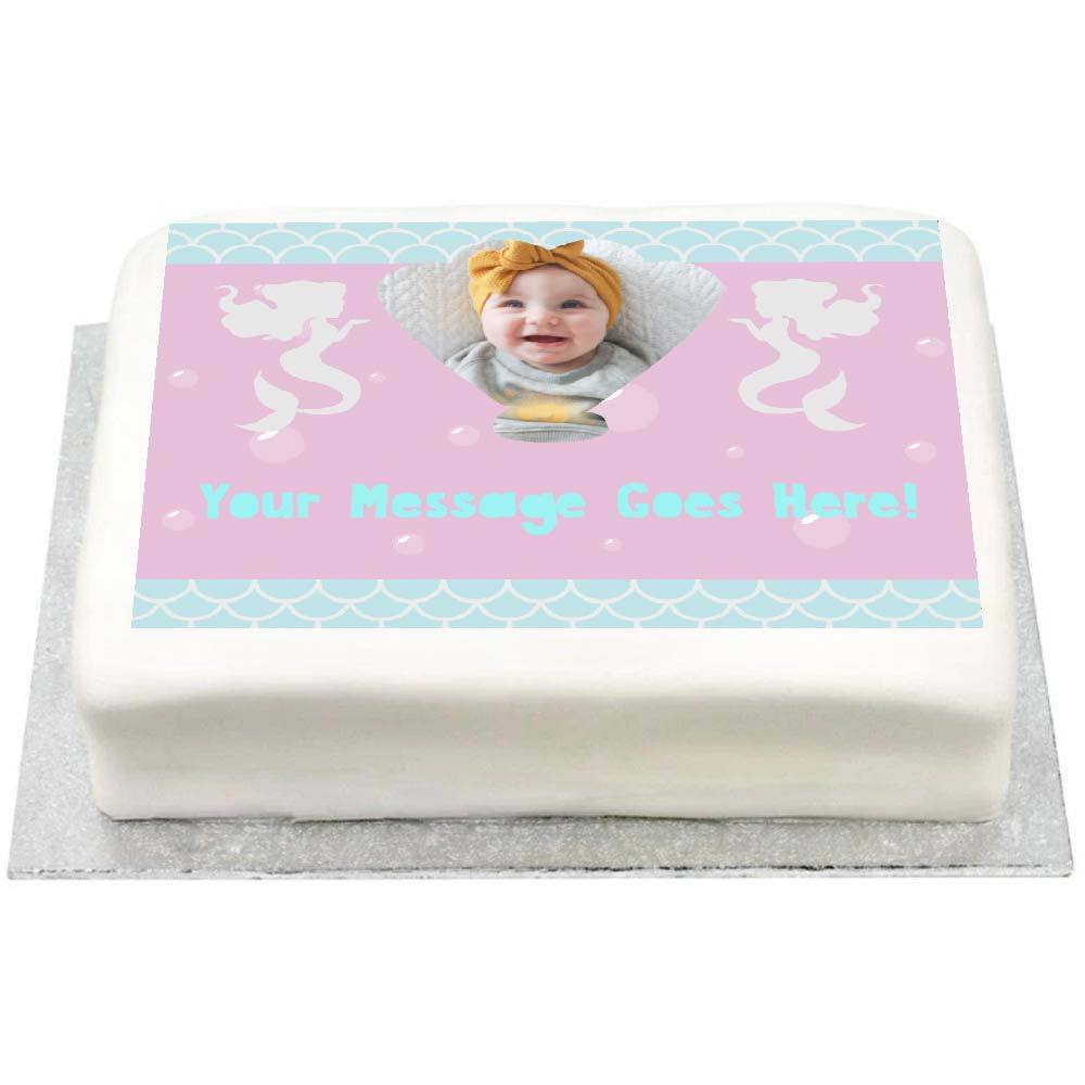 Personalised Photo Cake - Mermaid Shine 1st Birthday