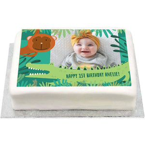 Personalised Photo Cake - Snappy Birthday 1st Birthday