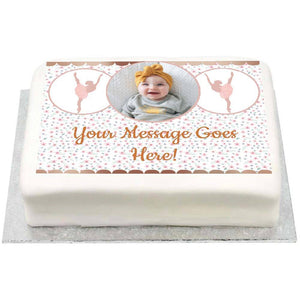 Personalised Photo Cake - Ballet 1st Birthday