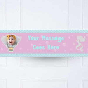 Mermaid Shine 1st Birthday Personalised Party Banner