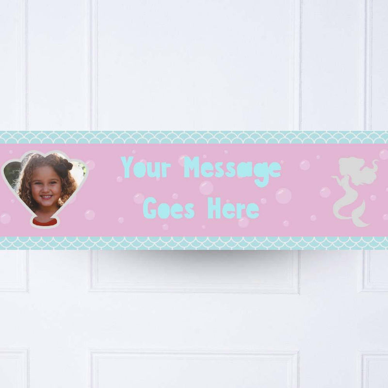 Mermaid Shine Personalised Party Banner