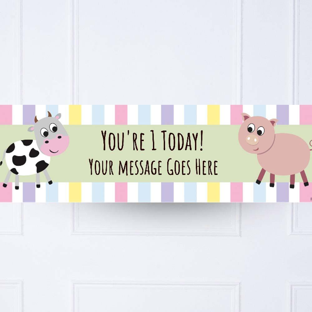 Farm Yard 1st Birthday Personalised Party Banner
