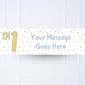 Pastel Dot 1st Birthday Personalised Party Banner