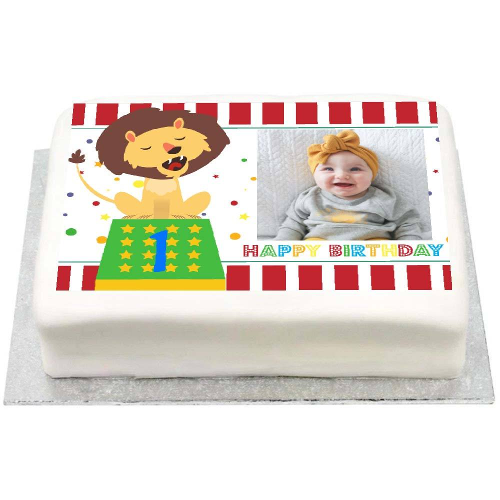 Personalised Photo Cake - Circus 1st Birthday