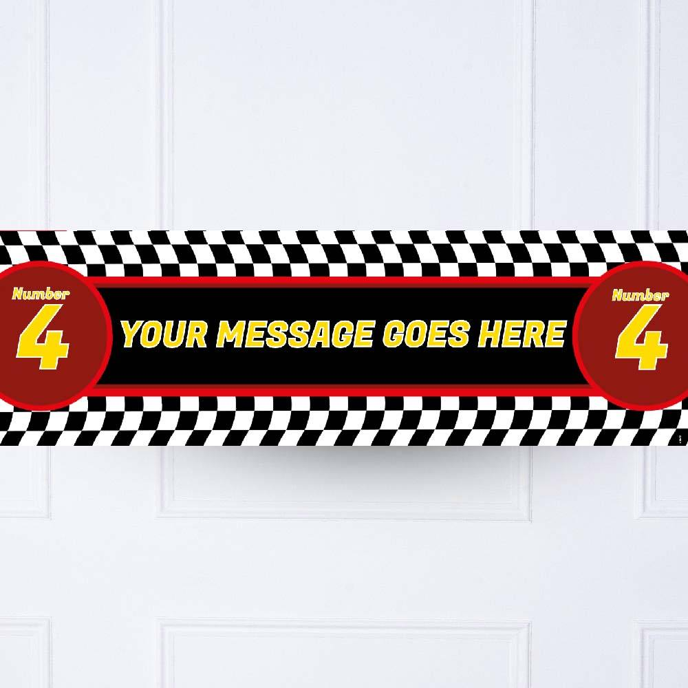 Party Racer Personalised Party Banner