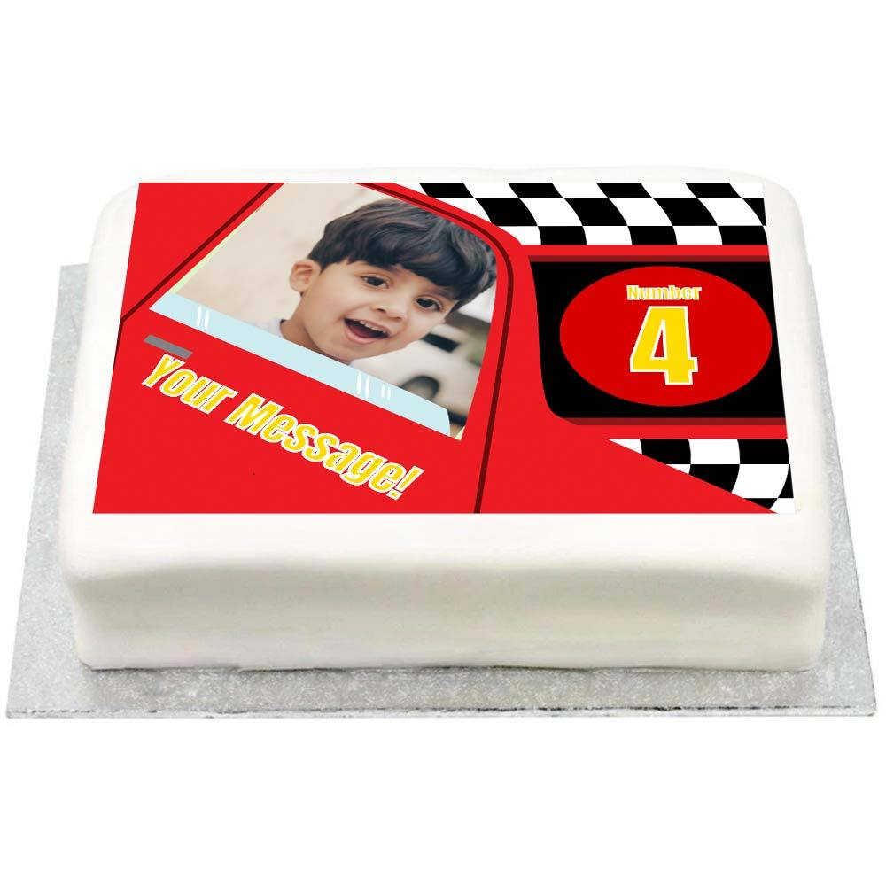 Personalised Photo Cake - Party Racer