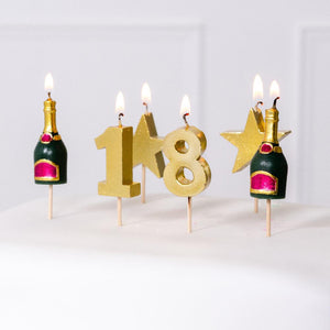 18th Birthday Candle Set