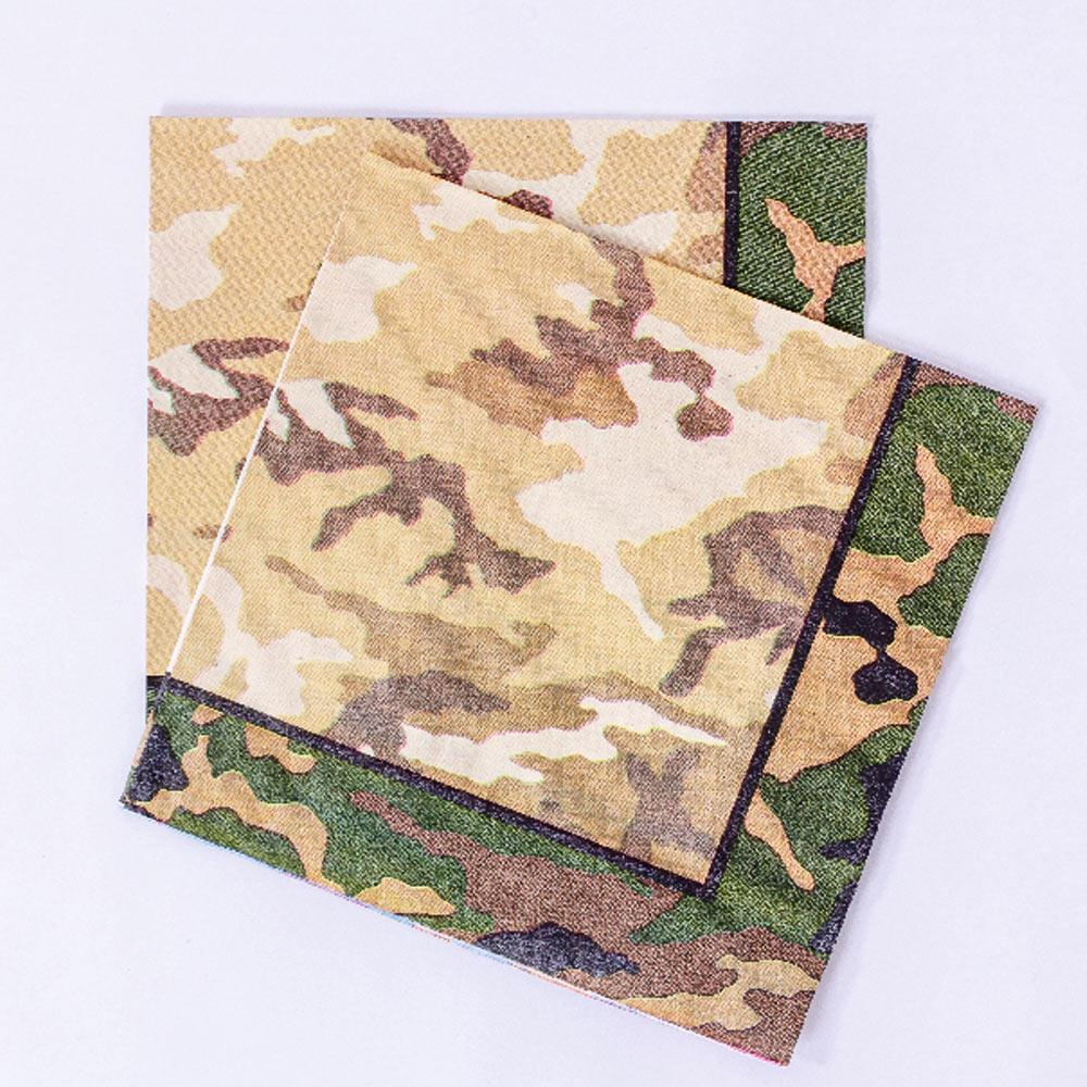 Camo Party Napkins (x16)