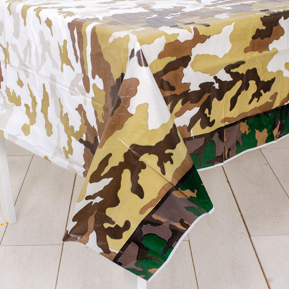 Camo Party Plastic Tablecover