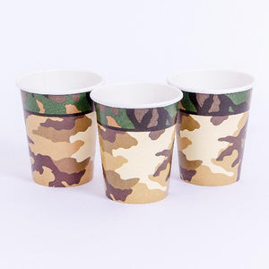 Camo Party Cups (x8)