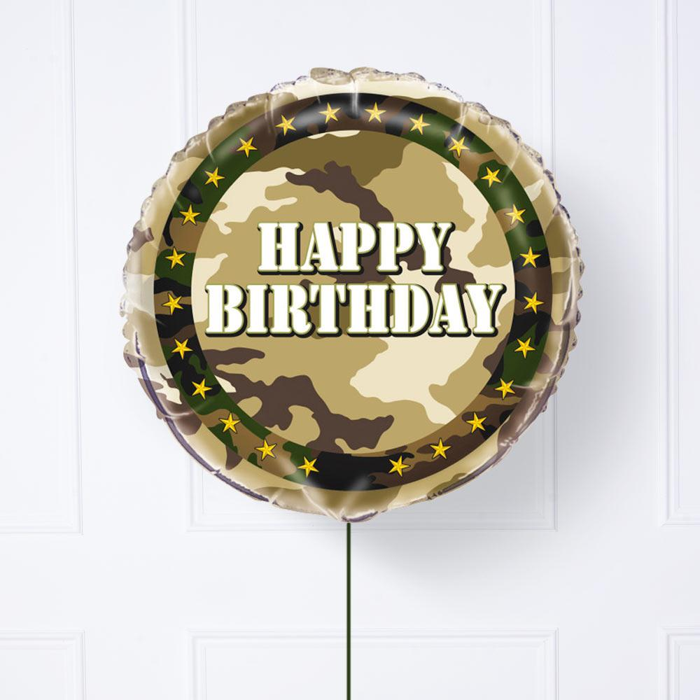 Camo Party Balloon
