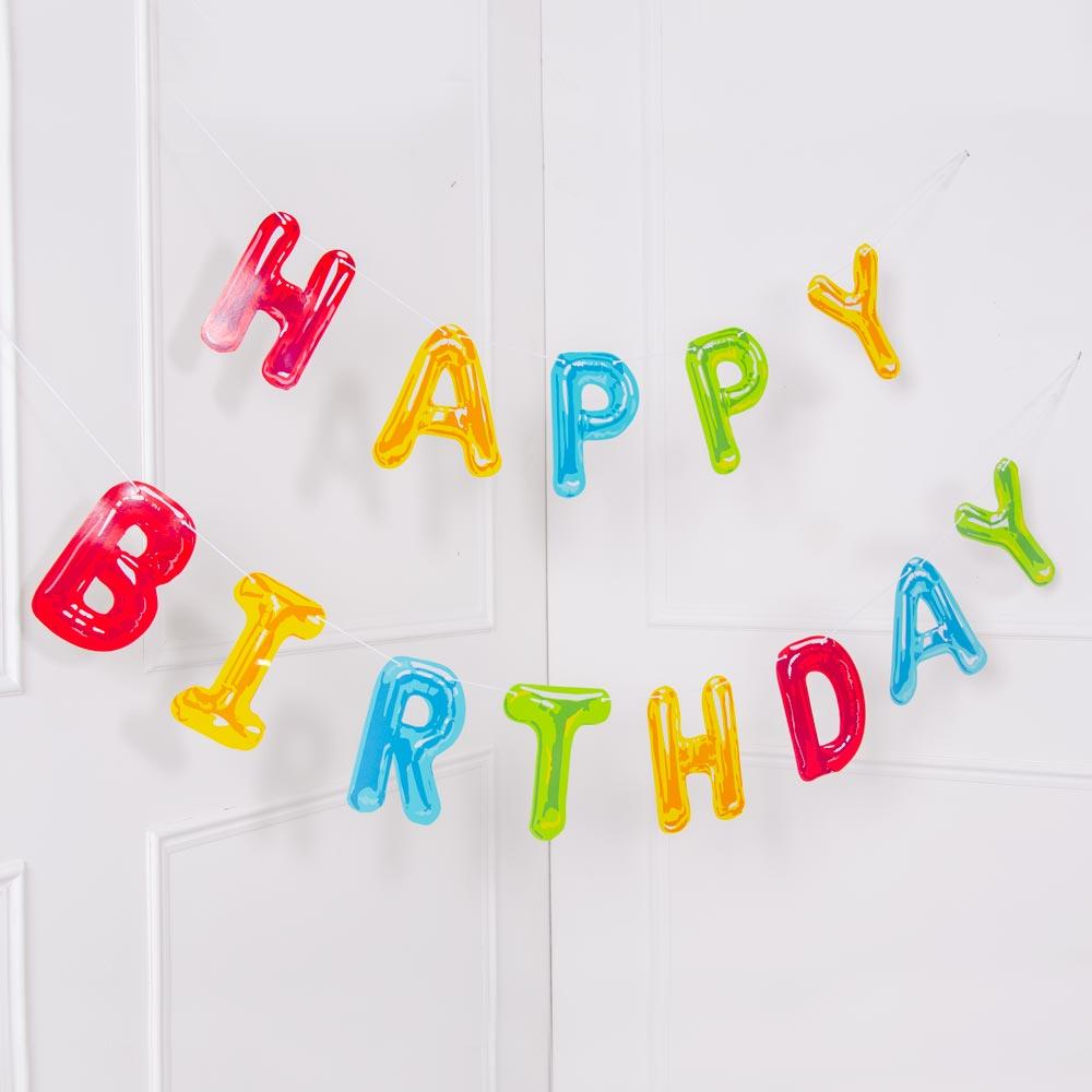 Click to view product details and reviews for Rainbow Happy Birthday Letter Banner.