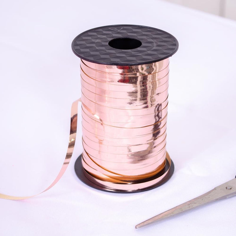 45m Curling Ribbon Rose Gold