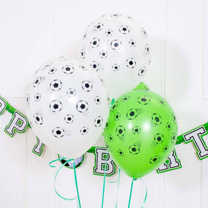 Football All Over Print Latex Balloons (x5)