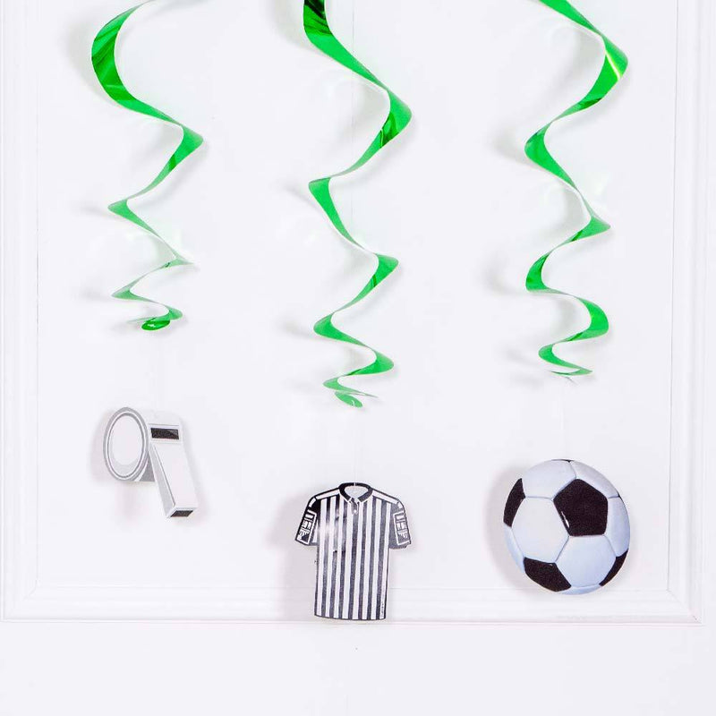 Football Hanging Ceiling Decorations (x3)