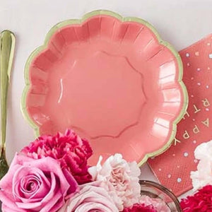 Rose Paper Party Plates (x12)