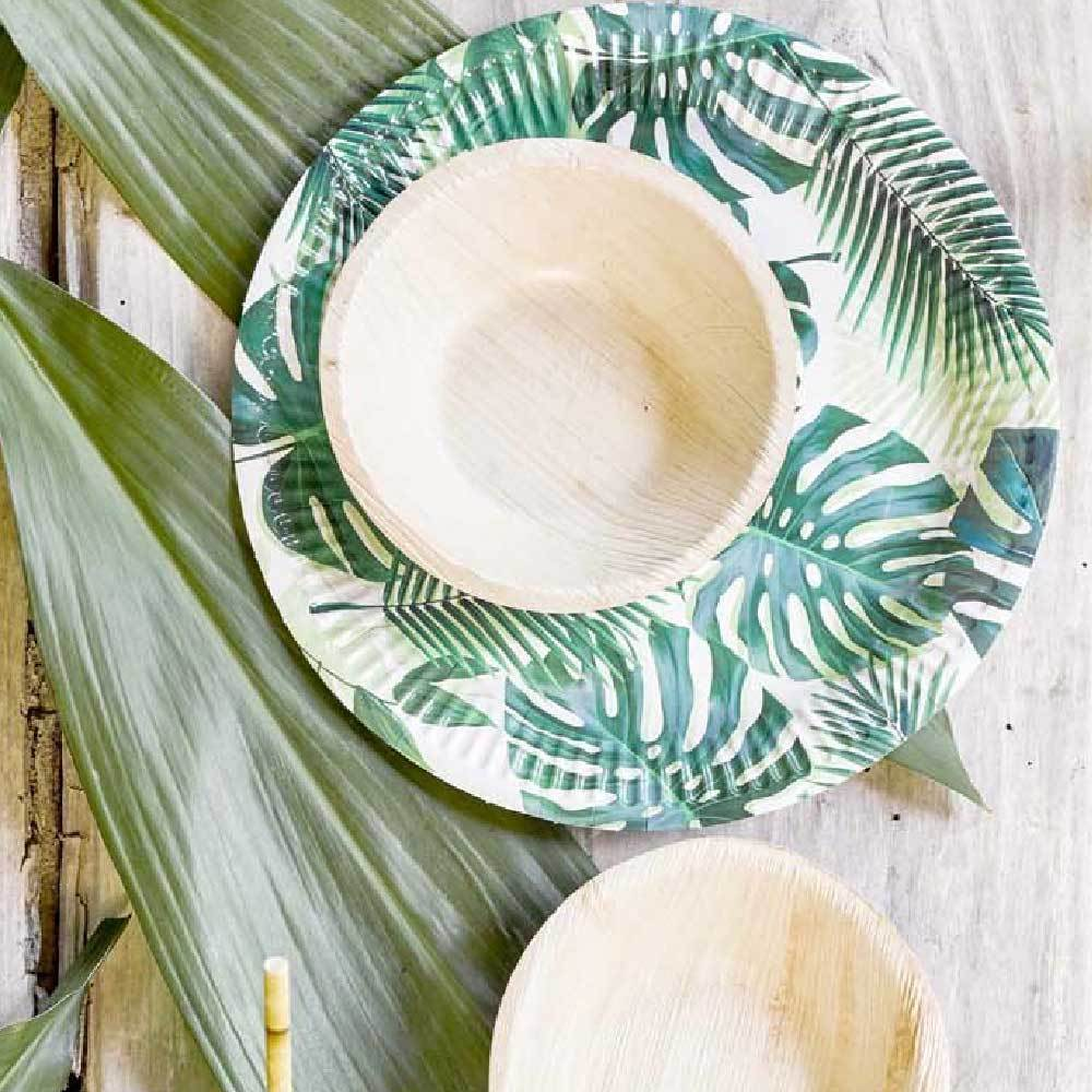 Eco-Friendly Palm Leaf Bowls (x6)