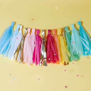 Multi-Coloured and Gold Tassel Garland (each)