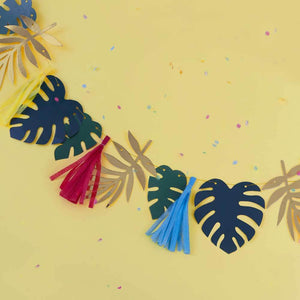 Gold Foiled & Leaf Tassel Garland