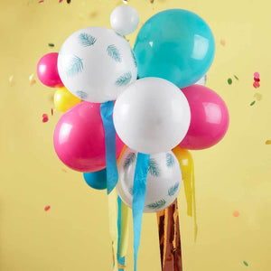 Multi-Coloured & Palm Print Party Balloon Chandelier (x24)