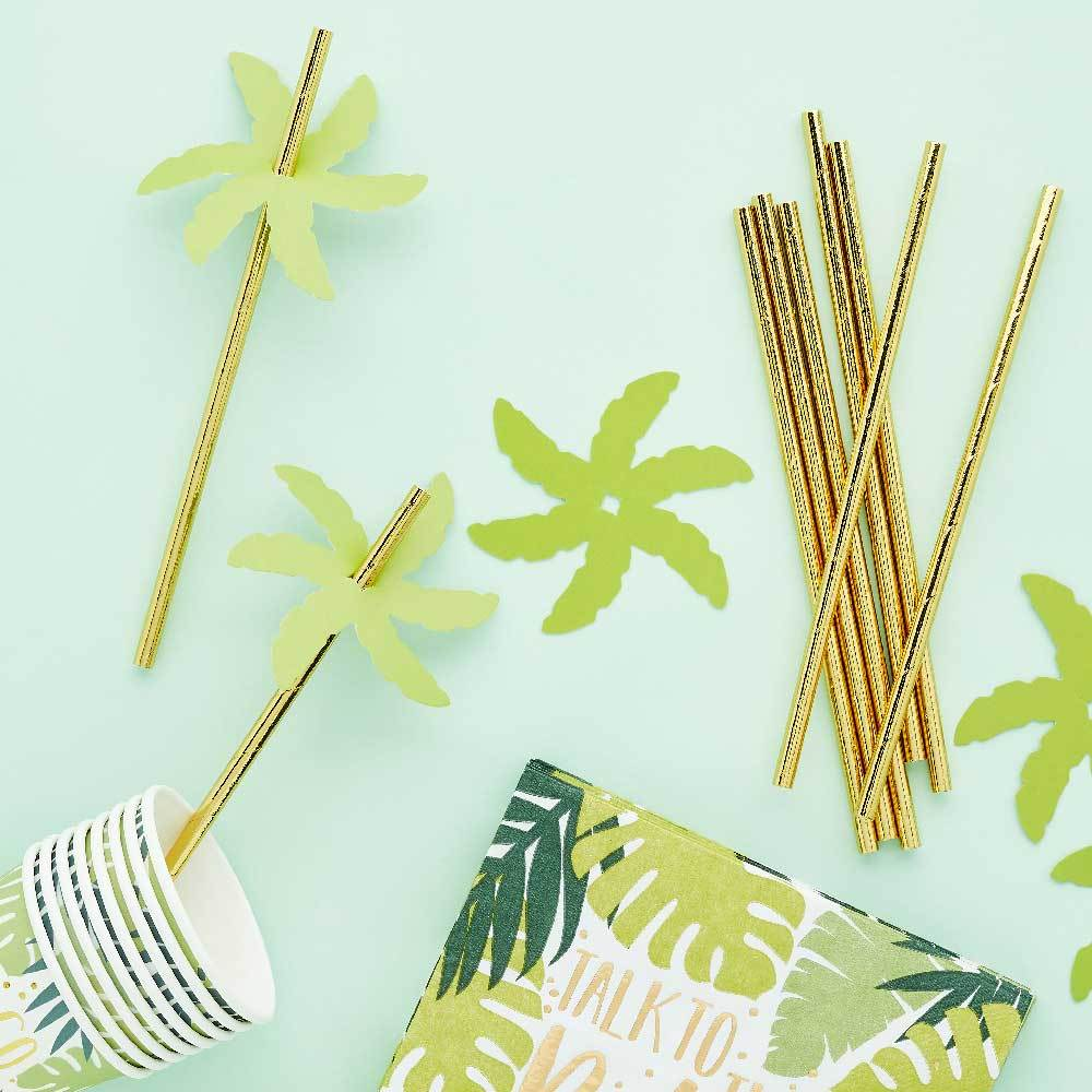 Palm Leaf Paper Straws (x24)