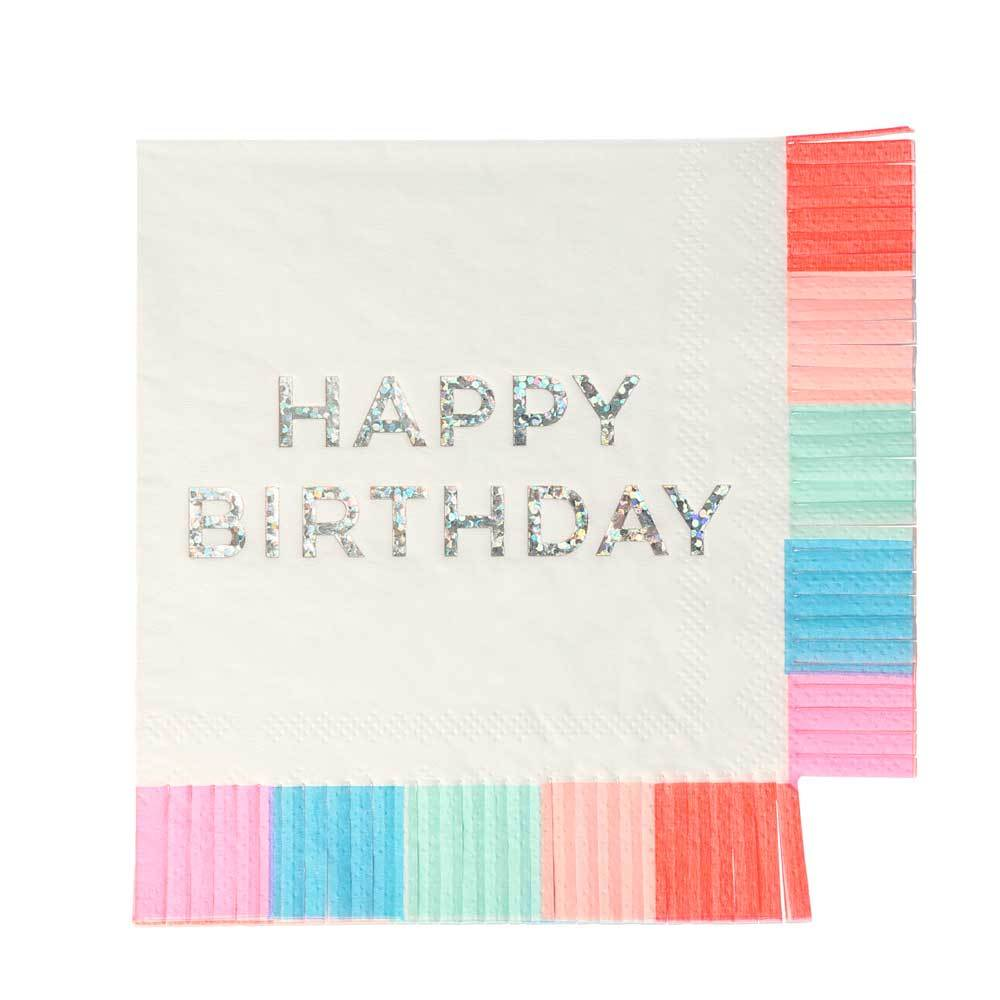 Birthday Fringe Small Napkins x16