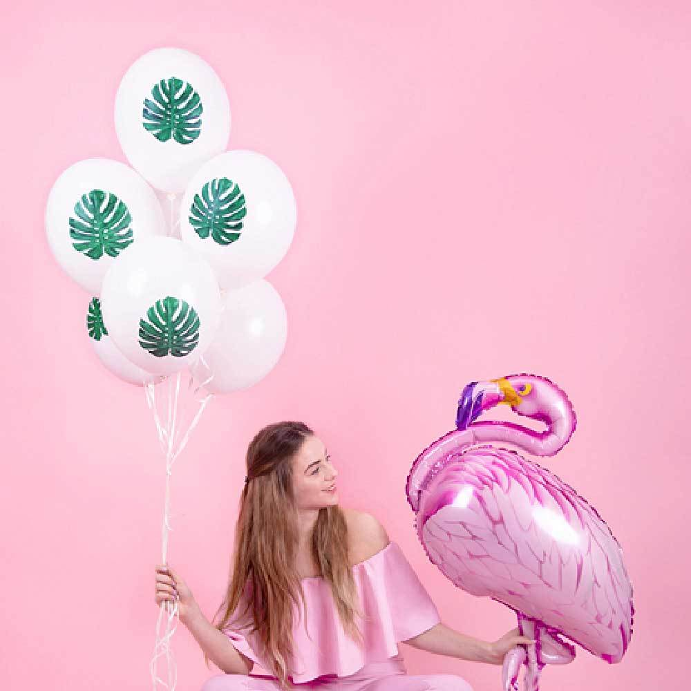 Palm Leaf Latex Balloons (x6)