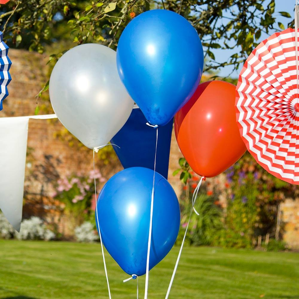 Red, White & Blue Latex Balloon Set (x30)