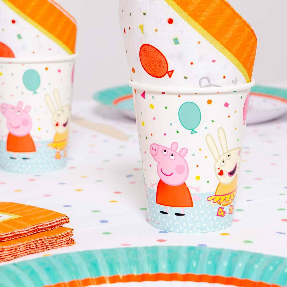 Peppa Pig Rainbow Paper Party Cups (x8)