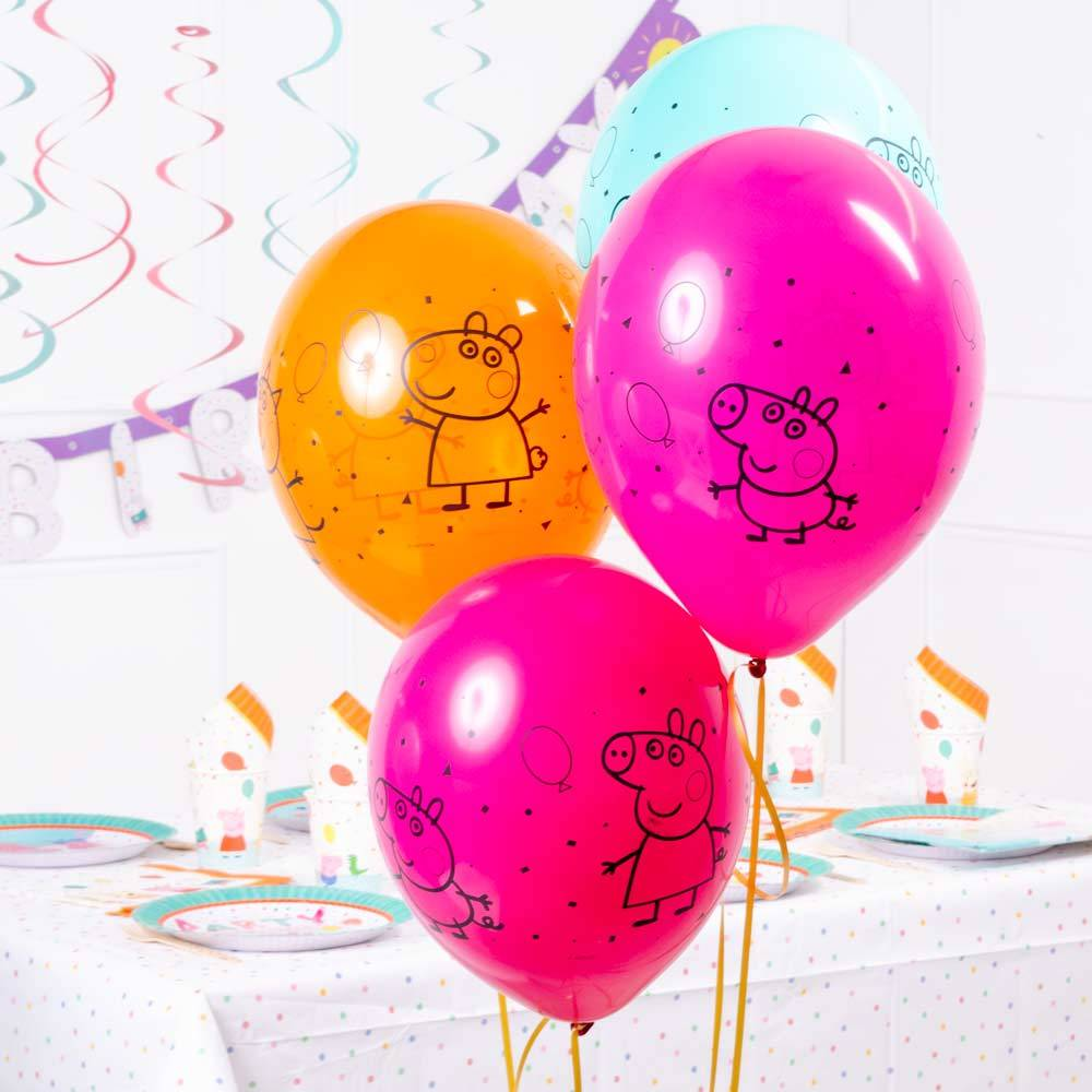 Peppa Pig Rainbow Latex Balloons (x6)