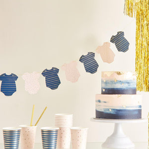 Gender Reveal Foiled Baby Grow Bunting