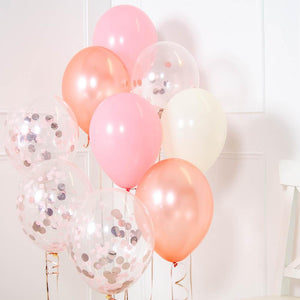 Confetti Balloon Bouquet - Rose Gold & Pink