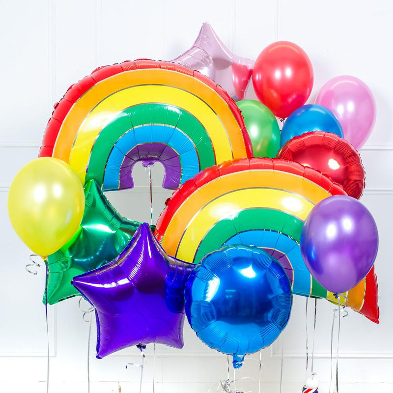 Supershape Balloon Bouquet - Rainbow