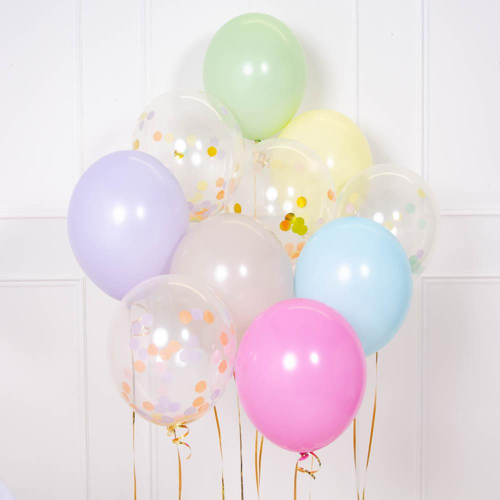 Click to view product details and reviews for Confetti Balloon Bouquet Pastel.