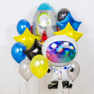 Supershape Balloon Bouquet - Space