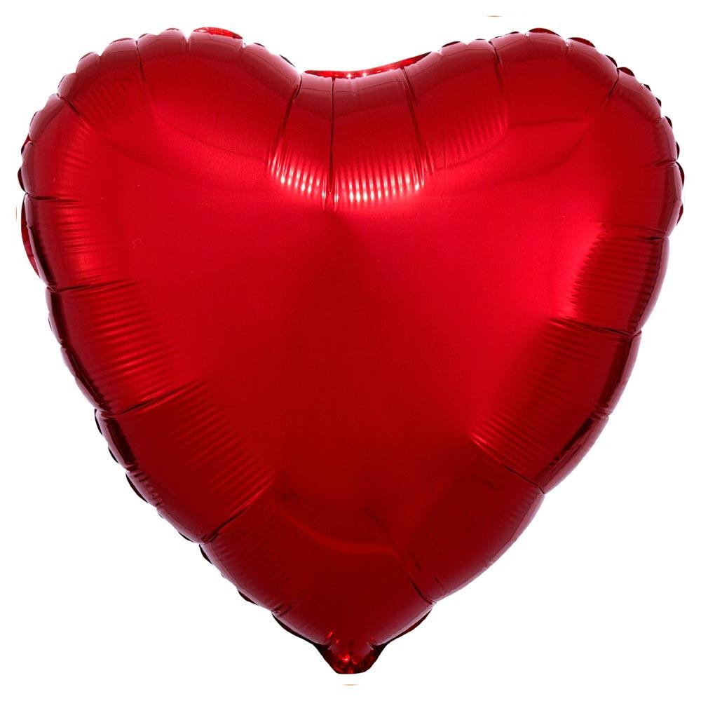 Heart Foil Balloon - Metallic Red