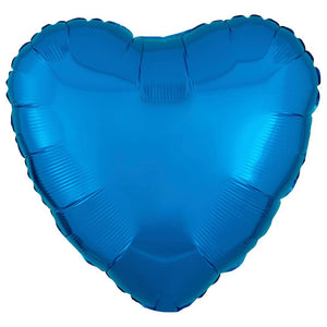 Heart Foil Balloon - Metallic Blue