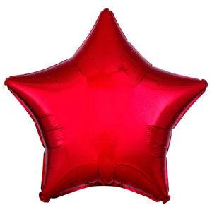 Star Foil Balloon - Metallic Red