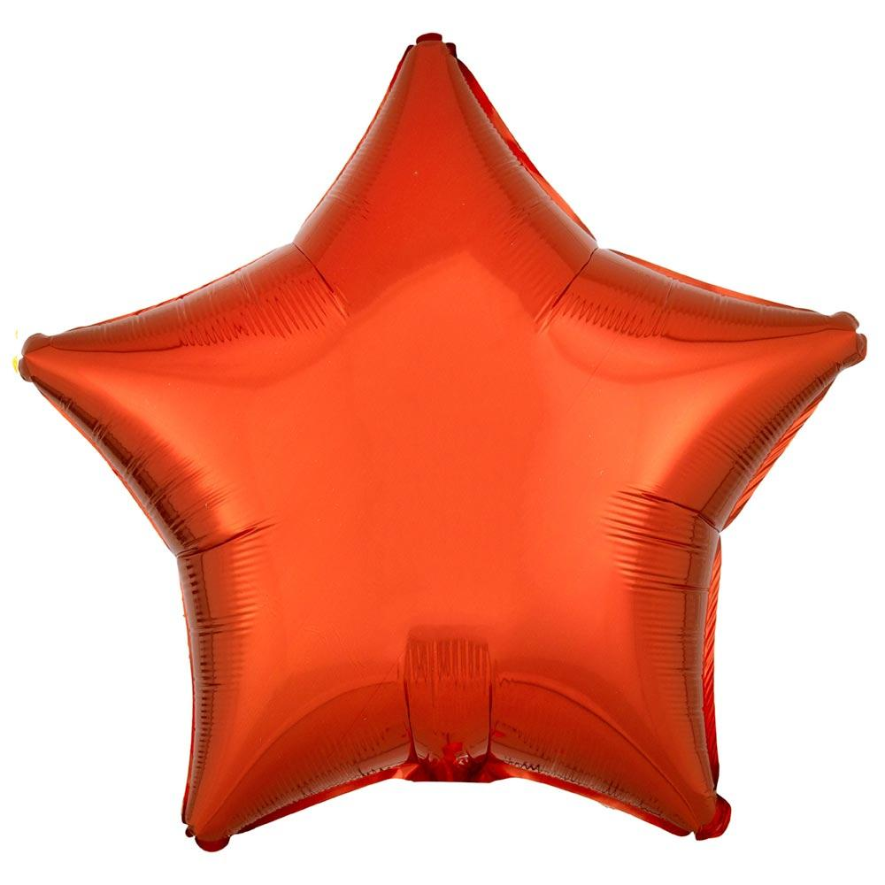 Star Foil Balloon - Metallic Orange