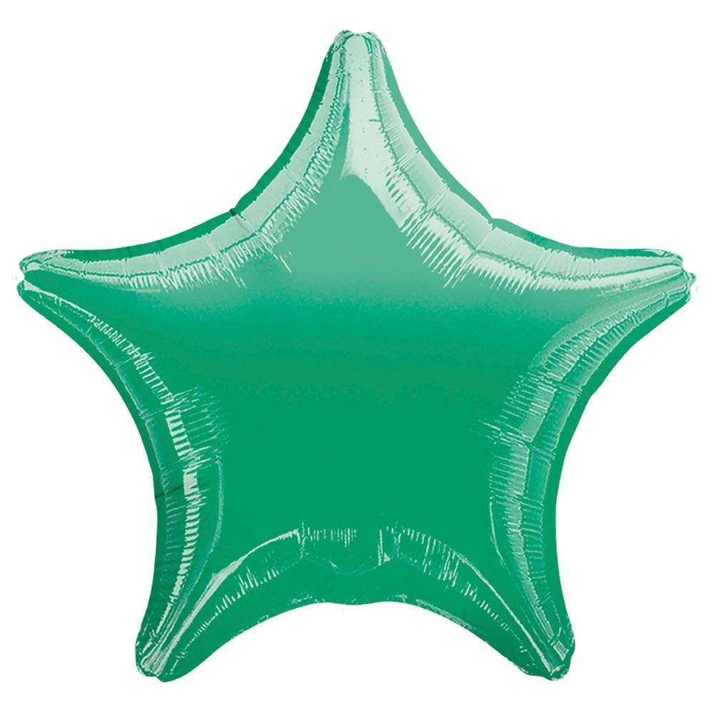 Star Foil Balloon - Metallic Green