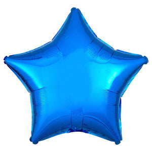Star Foil Balloon - Metallic Blue