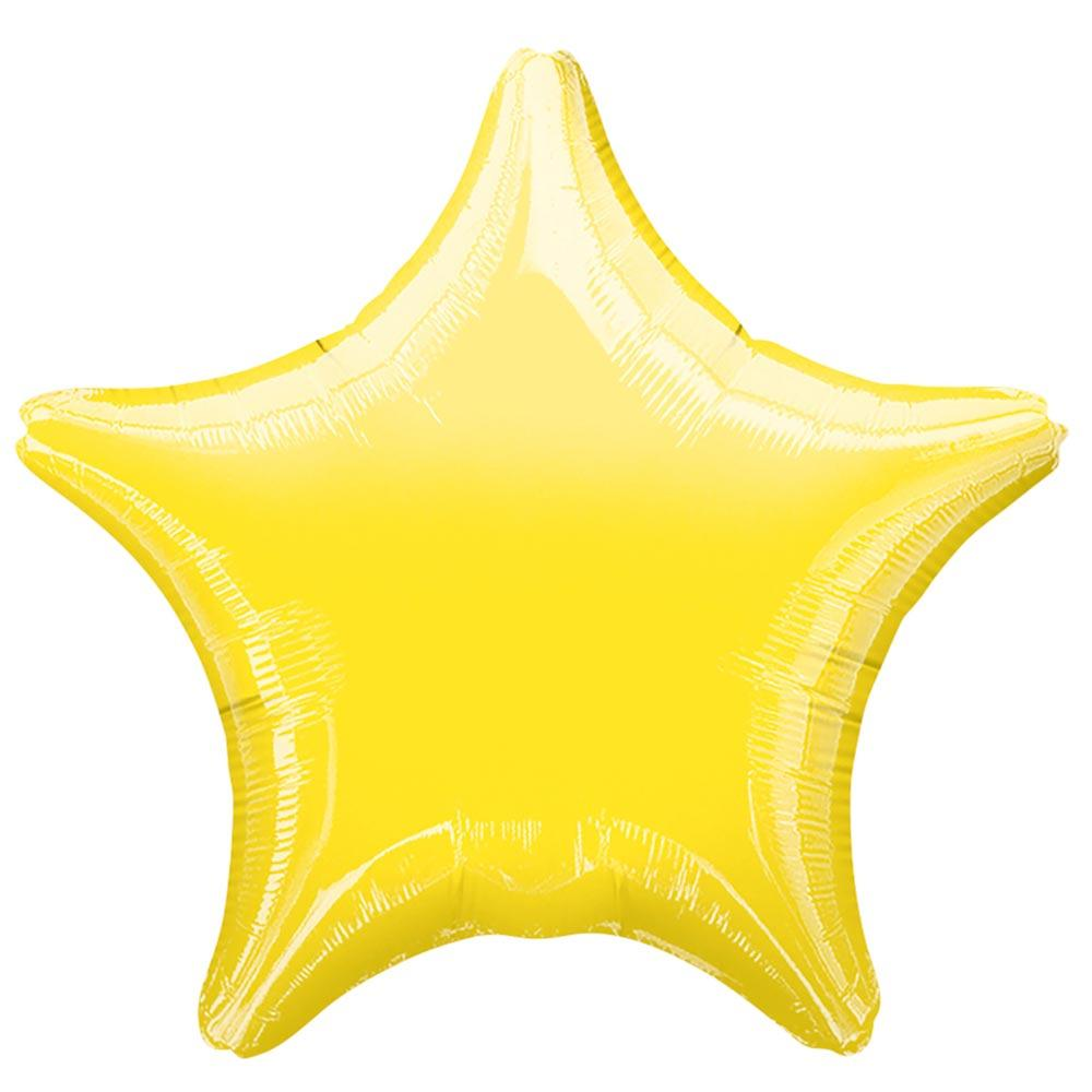 Star Foil Balloon - Metallic Yellow