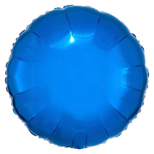 Circle Foil Balloon - Metallic Blue