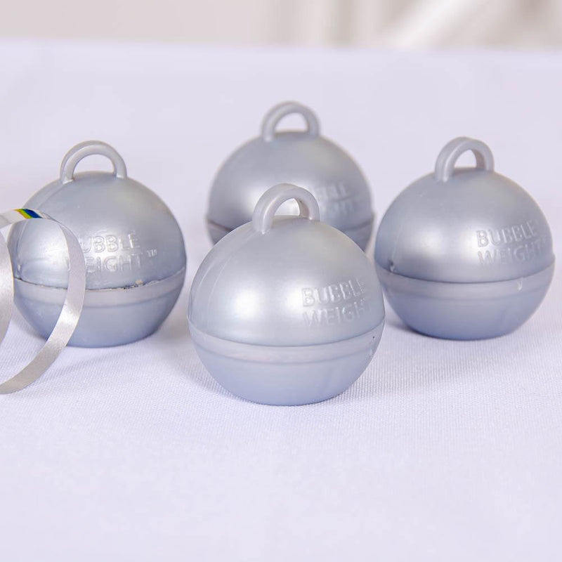 Bubble Balloon Weight Silver (x4)