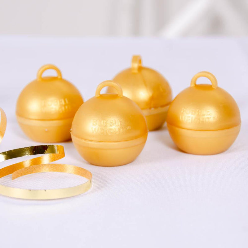 Bubble Balloon Weight Gold (x4)