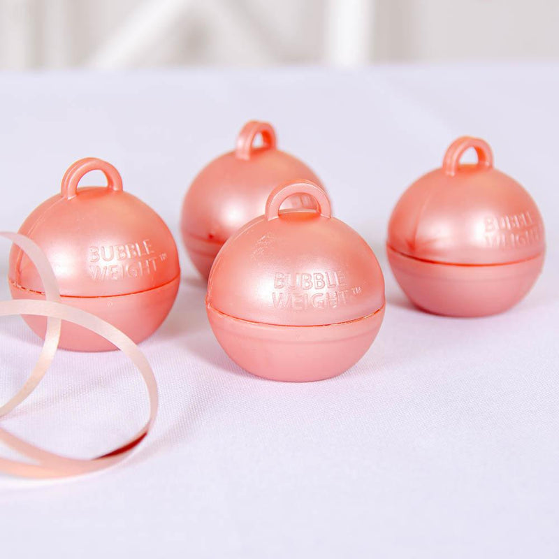 Bubble Balloon Weight Rose Gold (x4)
